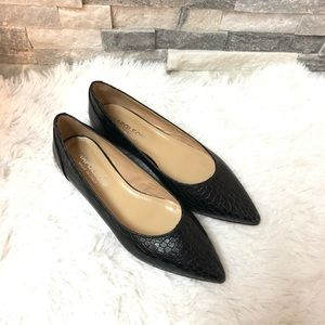 NEW Napoleoni leather black flats size 38